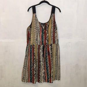 Tribal print zip dress